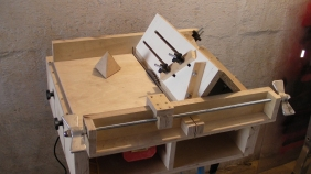 """Homemade Table Saw"" ""Sledge"" ""Jig"" ""Tetrahedrons"" ""Pyramids"""