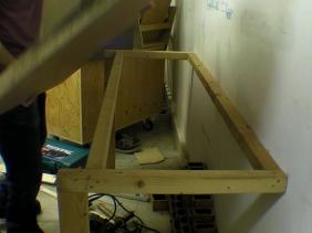 Workbench Table Fixed To Masonry Wall
