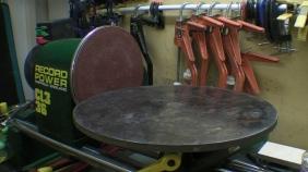 Lathe Sanding Disc Linisher Attachment Circular Sander