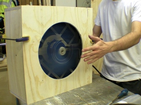 DIY Pleated Air Filter Scrubber High Velocity Fan for Workshop