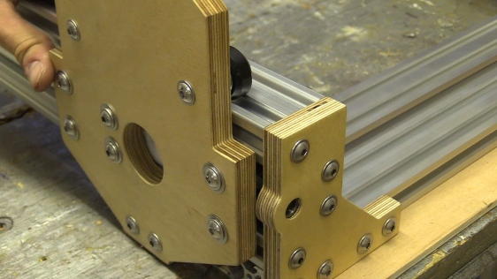 CB CNC Part 4 Assembling X and Y Axis and making ACME Locking Collar