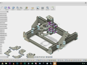Parametric CNC Machine Design / CBeam Mountain / CNC-Roy