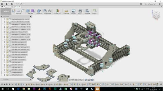 Parametric CNC Machine Design / CBeam Mountain / CNC-Roy