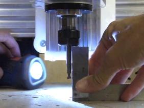 CB CNC Part 22 Cutting Aluminium and Tramming CNC Spindle