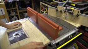 Router Table Fence integrated to Table Saw Fence