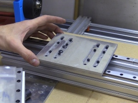 Aluminium CNC Plates Water-Jet Cut, Intermediate Plate and Sizing Holes