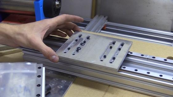 Aluminium CNC Plates Water-Jet Cut, Intermediate Plate and Sizing Holes