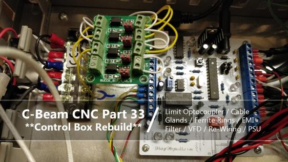 cb cnc part 33 - cnc control box re-wiring rebuild optocoupler